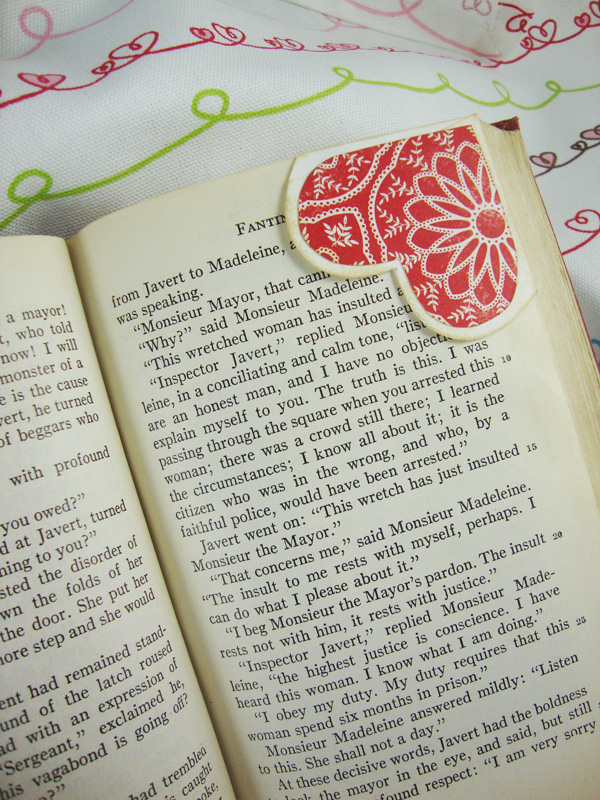 Heart Corner Bookmarks 5